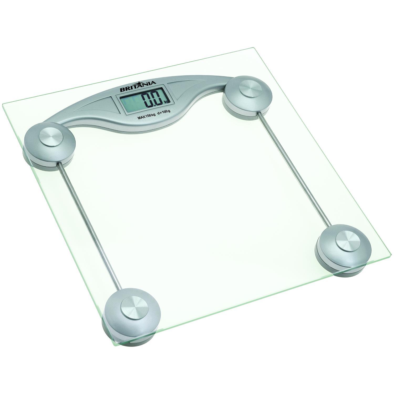 Balança BRITÂNIA prata digital Ref.:BE3 #4A815C 1500x1500 Balança Digital Banheiro Britania