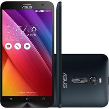 "Smartphone Asus Zenfone 2 Dual Chip Tela 5.5"" Memória 16GB Intel Quad-Core Câmera  13MP + Selfie 5MP 4G Wi-Fi Android 5.0  Preto ZE551ML"