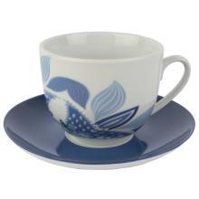 Xícara para Chá com Pires Branco com Azul