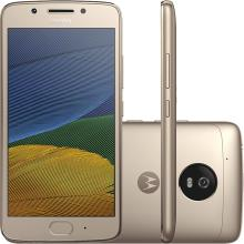 Smartphone Motorola Moto G5 Tela 5 Memória 32GB Processador Octa - Core Câmera 13MP Frontal 5MP 4G Wi - Fi Android 7.0 XT1672
