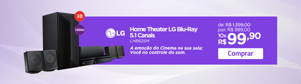 Home Theater LG Blu-Ray 5.1 Canais