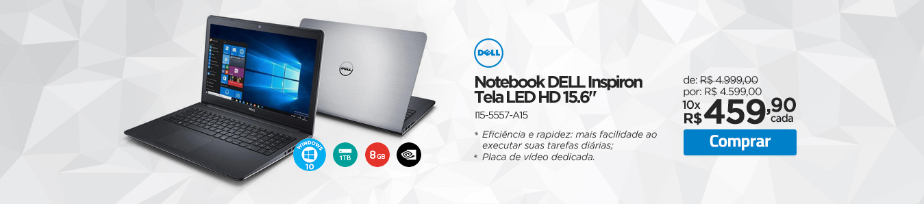 Notebook Dell Inspiron L15-5557-A15
