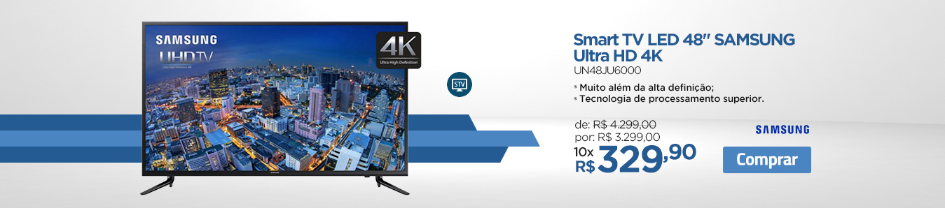 Smart TV Samsung Ultra HD 4K UN48JU6000