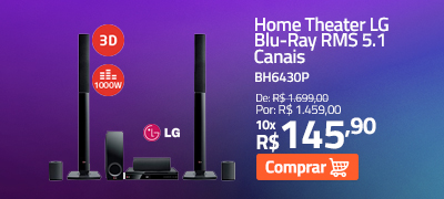 Home Theater LG Blu-Ray RMS 5.1 Canais