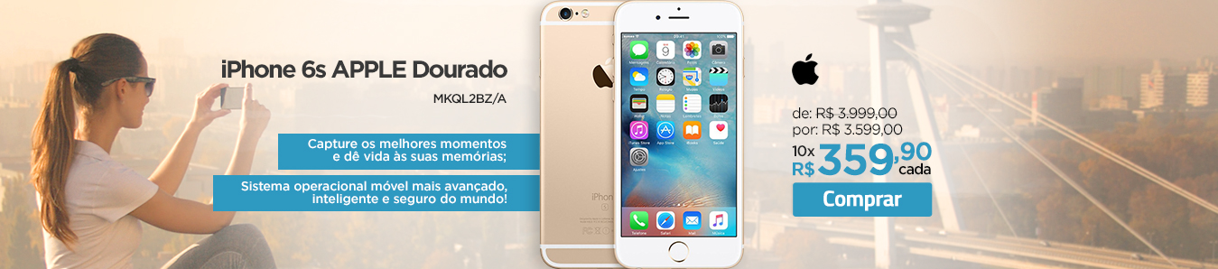 iPhone 6s Apple Dourado