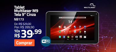 "Tablet Multilaser M9 Tela 9"" Cinza"