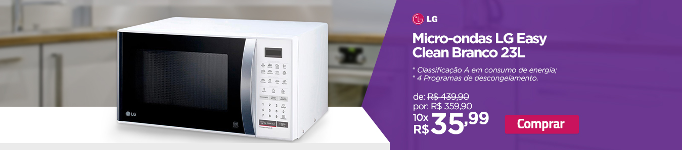 Micro-ondas LG Easy Clean Branco 23L