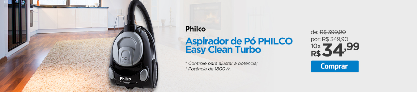 Aspirador de Pó PHILCO Easy Clean Turbo