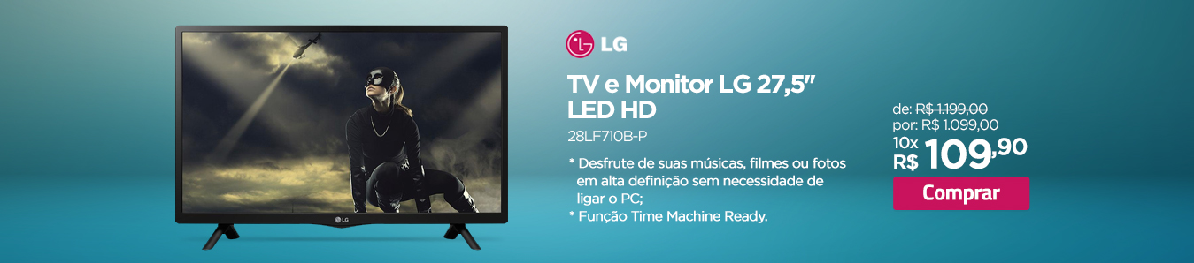 TV e Monitor LG 27,5'' LED HD