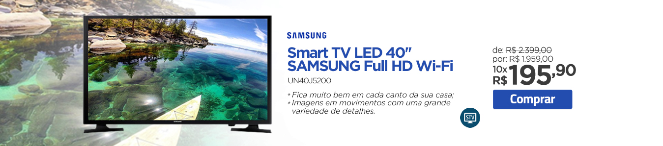 Smart TV LED 40'' Samsung Full HD Wi-Fi