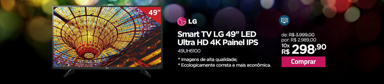 Smart TV LG 49'' LED Ultra HD 4K Painel IPS
