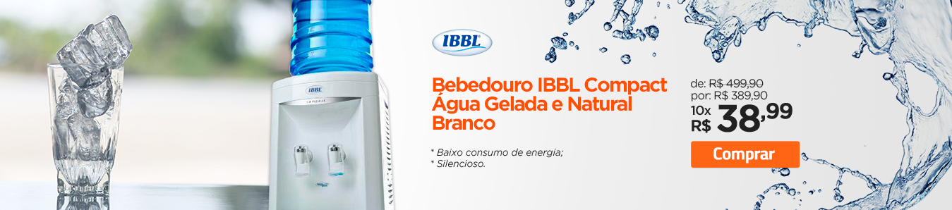 Bebedouro IBBL Compact Água Gelada e Natural Branco