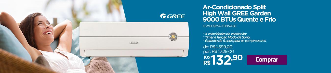 Ar-Condicionado Split High Wall Gree Garden 9000 BTUs Quente e Frio