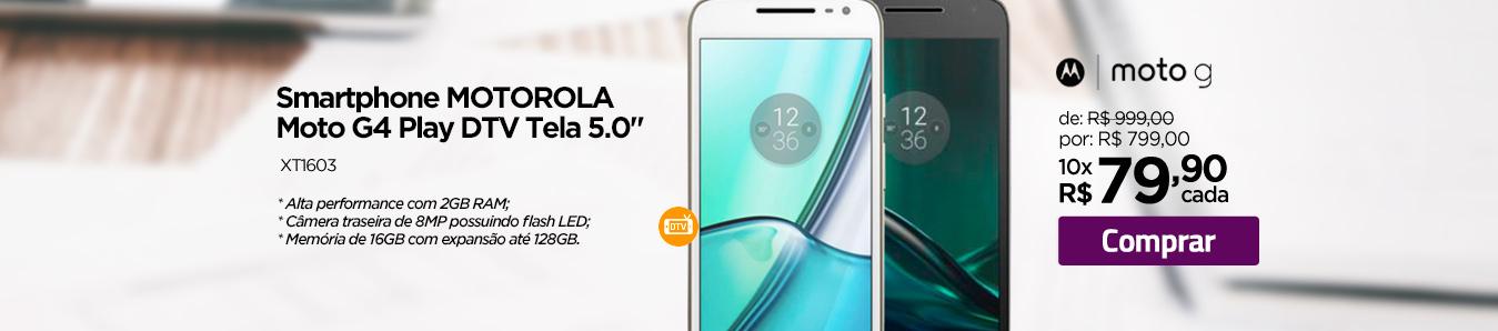 Smartphone Motorola Moto G4 Play DTV Tela 5.0