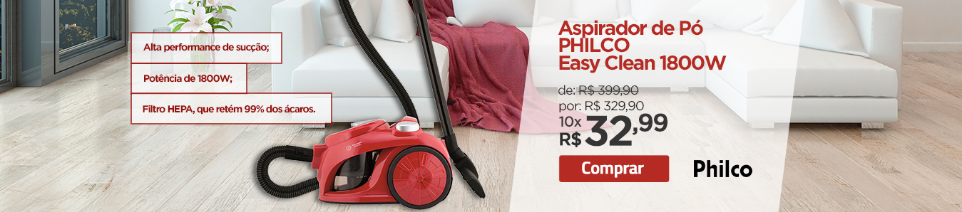 Aspirador de Pó PHILCO Easy Clean 1800W