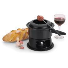 conjunto de fondue lugano preto esmaltado - forma