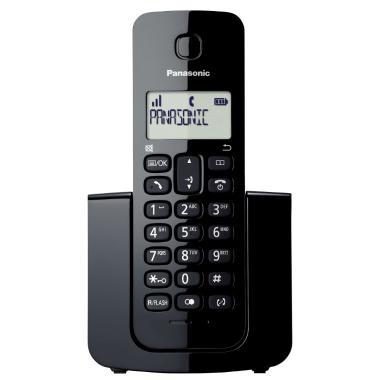 a66a8e66a Telefone Sem Fio Panasonic Preto com Identificador de Chamada KX-TGB110