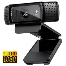 Webcam Logitech Full HD com Microfone USB Preto C920