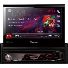 "DVD Player Automotivo Pioneer Tela 7"" Retrátil Touch Screen USB AVH-3880"