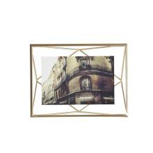 Porta-retrato Prisma Dourado10x15cm - Umbra