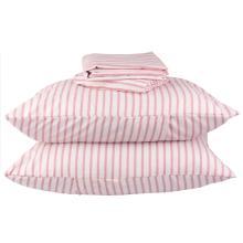 Jogo de Cama Casal Listrado Pink Microfibra 4 Peças - A/CASA