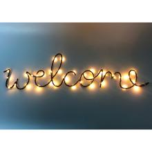 Enfeite com Led Welcome - A/CASA