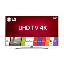 "Smart TV LED LG  4K 70"" Ultra HD WebOS Wi-fi 4 HDMI 2 USB Conversor Digital Bluetooth HDR 70UJ6585"
