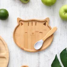 Kit de Alimentação Gato Bambu com 2 Peças - A/BABY
