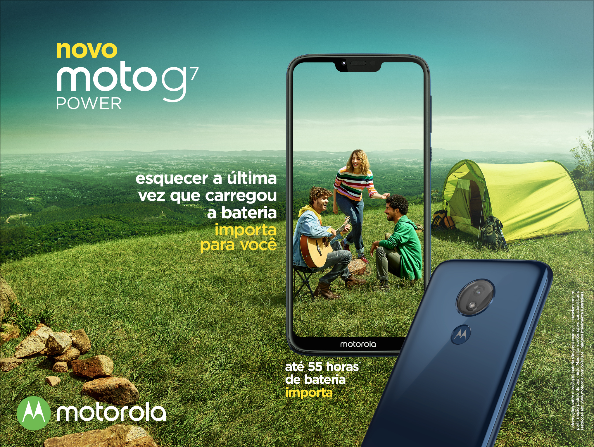 1d28260ce Smartphone Motorola Moto G7 Power 32GB Azul Câmera 12MP Tela 6